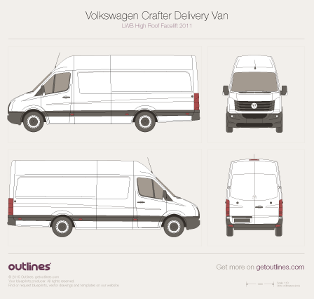 2011 Volkswagen Crafter Delivery Van Van blueprints and drawings