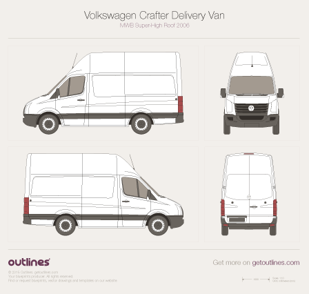 2006 Volkswagen Crafter Delivery Van Van blueprints and drawings