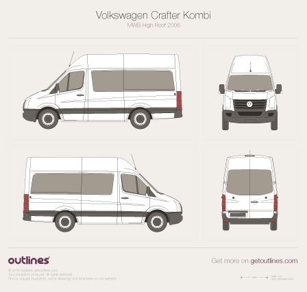 2006 Volkswagen Crafter Kombi Wagon blueprints and drawings