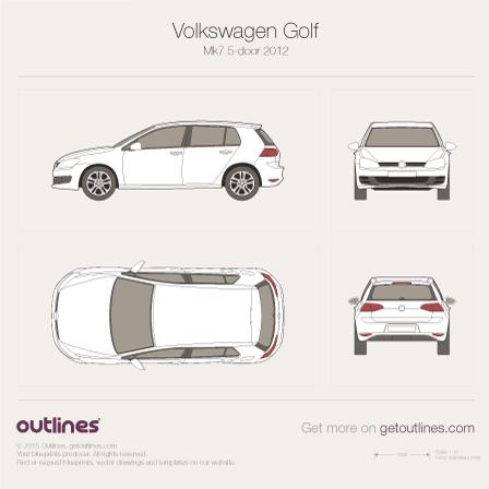 2012 Volkswagen Golf Mk7 5-door Hatchback blueprint