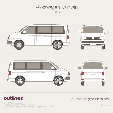 2015 Volkswagen Multivan T6 Wagon blueprints and drawings