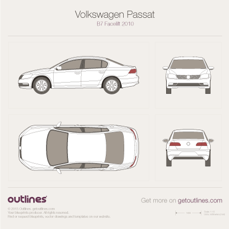 2012 Volkswagen Passat NMS USA / China Sedan blueprint