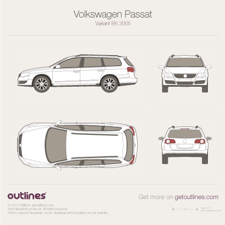 2005 Volkswagen Passat Variant B6 Wagon blueprints and drawings