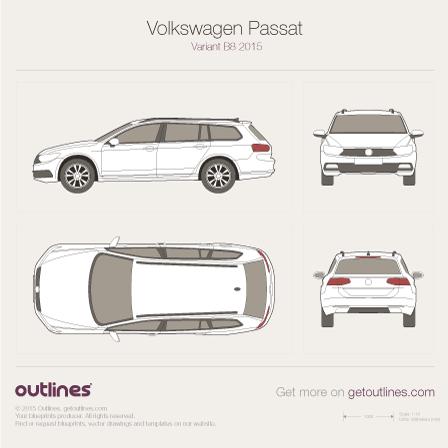 2015 Volkswagen Magotan Variant B8 Wagon blueprints and drawings
