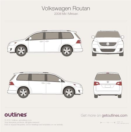 2008 Volkswagen Routan Minivan blueprint