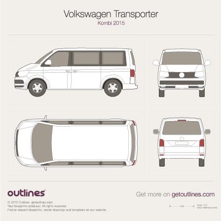 2015 Volkswagen Transporter Kombi T6 Wagon blueprints and drawings
