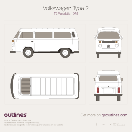 1967 Volkswagen Type 2 T2 Westfalia Microvan blueprints and drawings