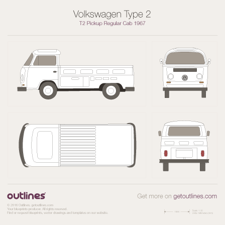 Volkswagen Type 2 blueprint