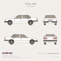 1991 Volvo 940 Sedan blueprint