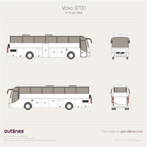 2006 Volvo 9700 H 12.3m Bus blueprint