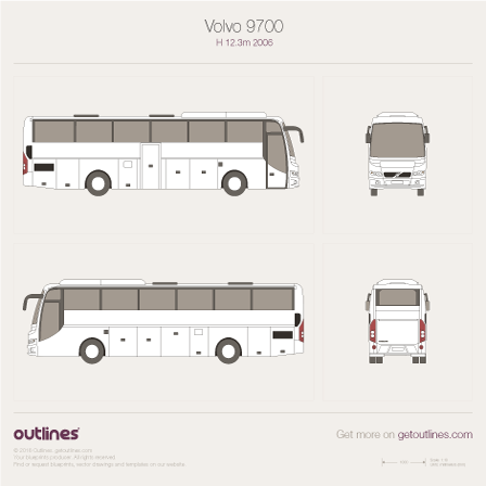 Volvo 9700 blueprint