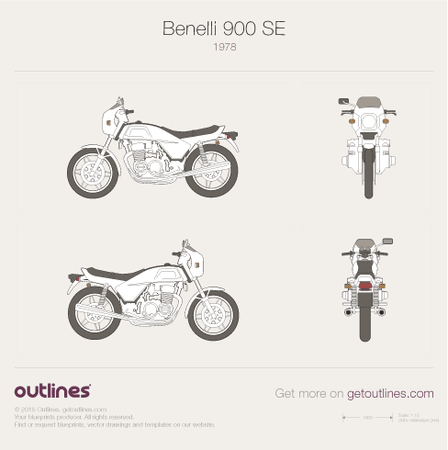 1978 Benelli 900 SEI blueprint